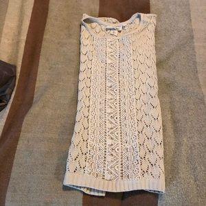 Tops - Cream crocheted sweater